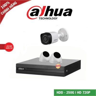 Lắp Đặt Trọn Bộ 3 Mắt Camera Dahua BEN-2030DH Full HD