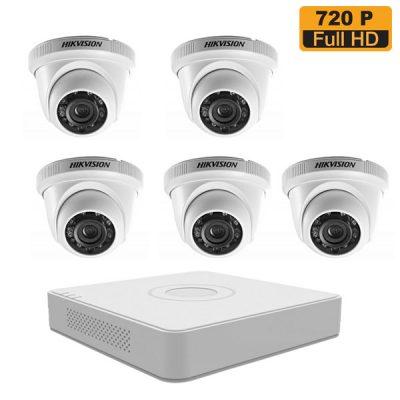 Lắp Đặt Trọn Bộ 5 Mắt Camera 1M Hikvision BEN-5010HK