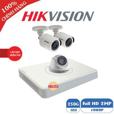 Lắp Đặt Trọn Bộ 3 Mắt Camera 2M Hikvision BEN-3020HK Giá Rẻ
