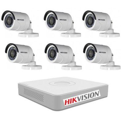 Lắp Đặt Trọn Bộ 6 Mắt Camera Hikvision 2M BEN-6020HK
