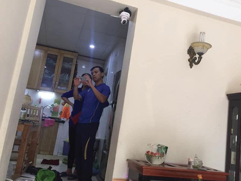 Khách hàng thực tế lắp camera yoosee 3 râu