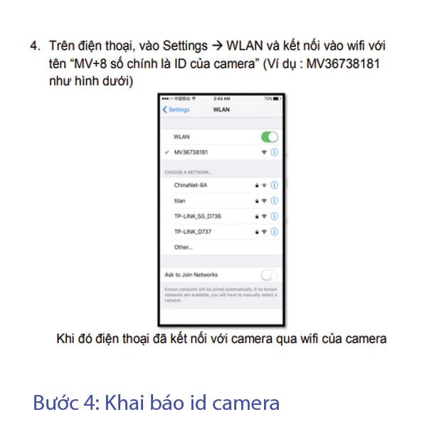 bước 4 hướng dẫn cài đặt wifi camera mini
