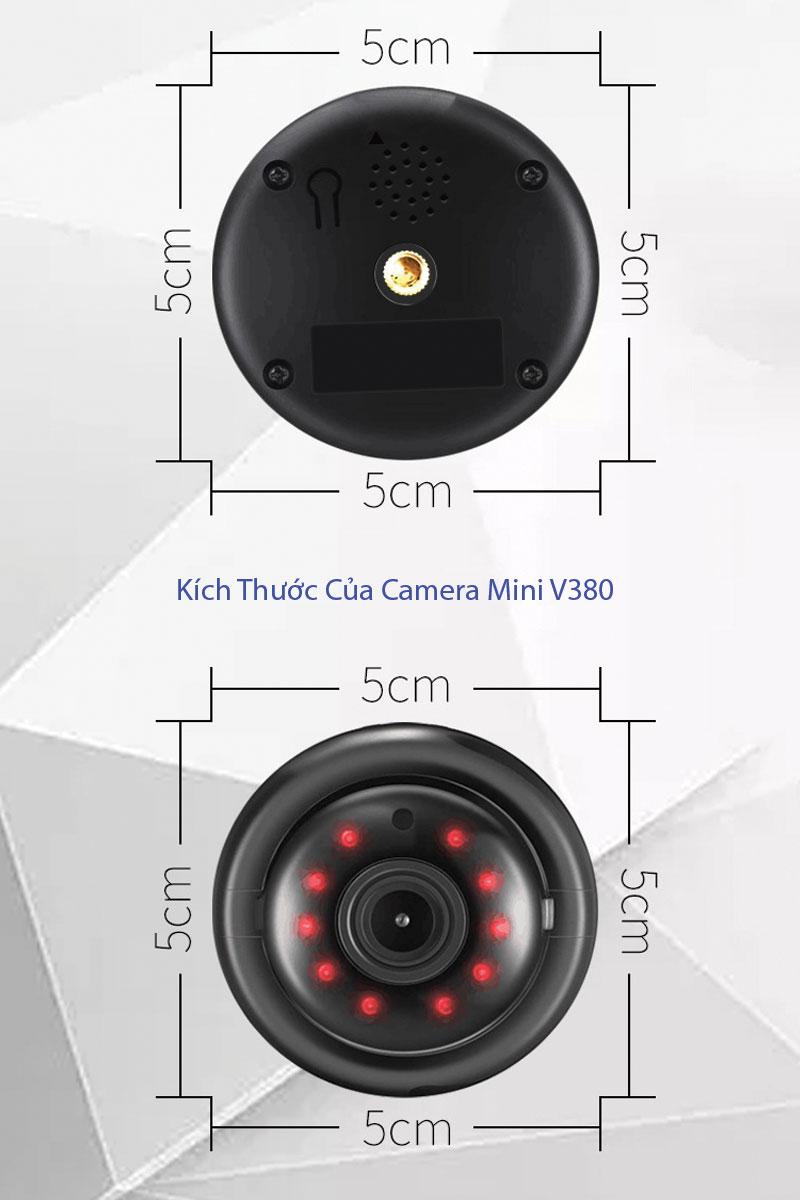 Kích thước của camera wifi mini