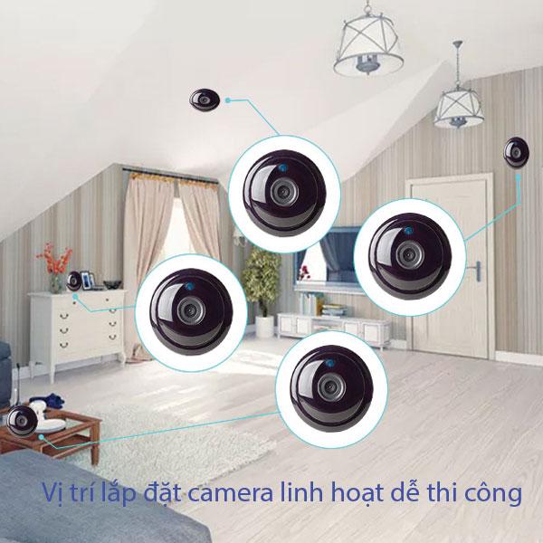 Vị Trí Lắp Đặt Camera Mini không dây dễ dàng