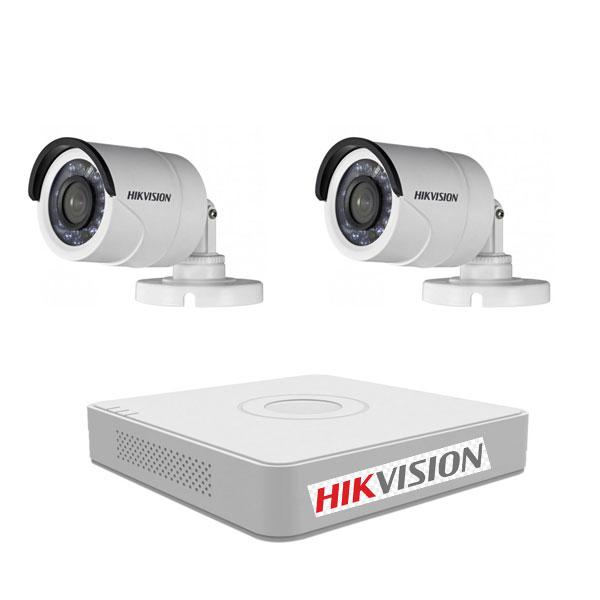 Lắp Đặt Trọn Bộ 2 Mắt Camera 2M Hikvision BEN-2020HK