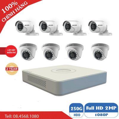 Giá Trọn Gói 8 Mắt Camera 2M Hikvision BEN-8020M