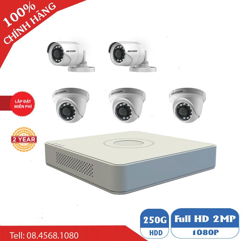 Lắp Đặt Trọn Bộ 5 Mắt Camera 1M Hikvision BEN-5010HK Giá Rẻ
