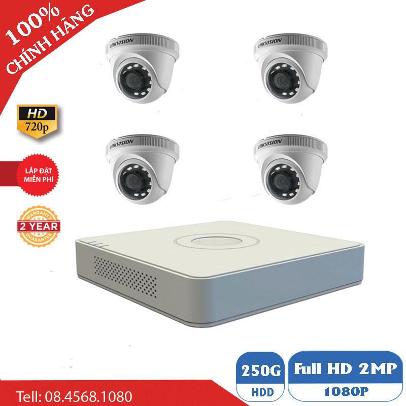 Lắp Đặt Trọn Bộ 4 Mắt Camera Hikvision BEN-4010HK