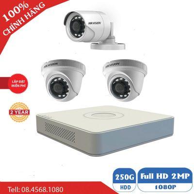 Camera Quan Sát Bộ 3 Mắt Camera Hikvision BEN-3010HK