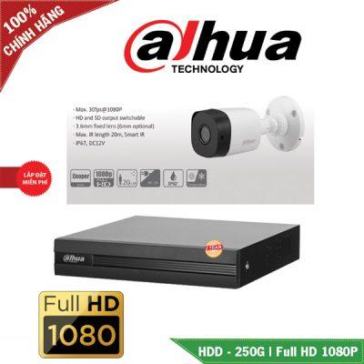 Trọn Bộ 1 Mắt Camera Dahua Chuẩn Full HD BEN-1020DH