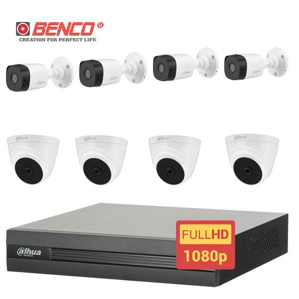 Lắp Đặt Trọn Bộ 8 Mắt Camera Dahua 2.0 BEN-8020DH Giá Rẻ
