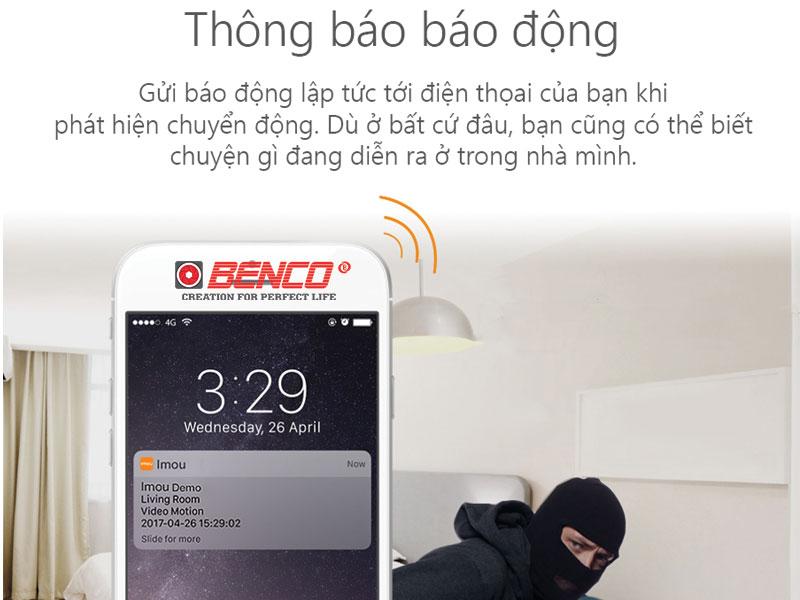 Cảnh báo báo động qua điện thoại thông minh