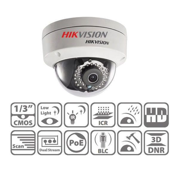 Camera Dome ds-2cd2120f-i Hikvision 2M Giá Rẻ