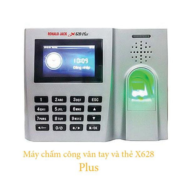 Máy chấm công vân tay và thẻ X628 Plus