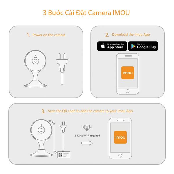 3 bước cài đặt camera IPC-C22EP