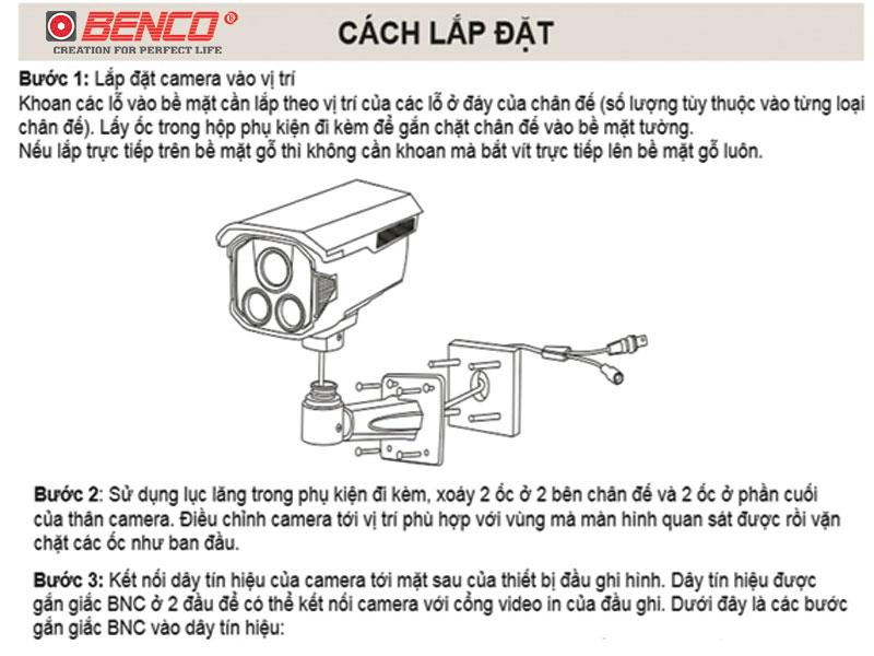 Cách Lắp Camera Thân Trọn Bộ