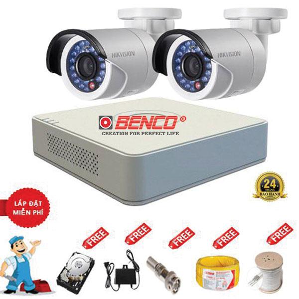 Trọn Lắp Đặt Trọn Bộ 2 Camera HIKVISION Chuẩn HD Giá Rẻ HK-01
