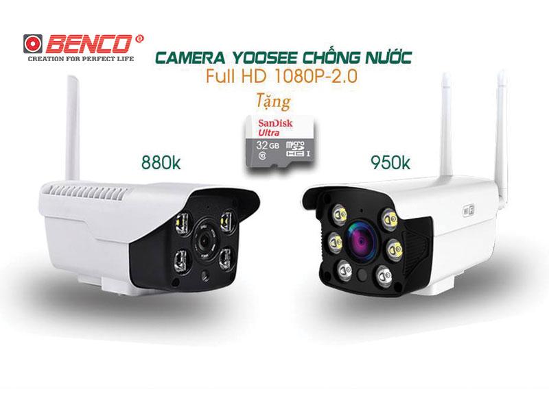 Camera thân wifi ngoài trời Yoosee 2 Râu top 5 camera bán chạy