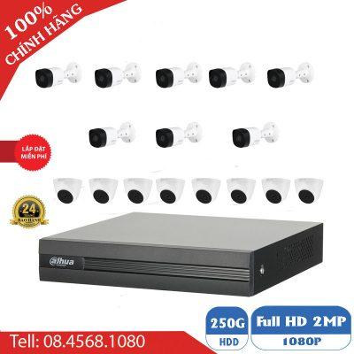 Trọn Bộ 16 Camera Dahua Giá Rẻ Full HD BEN-1602DH