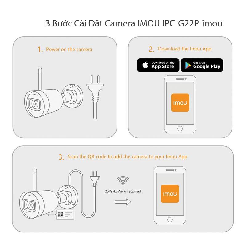Các Bước Cài đặt camera bằng điện thoại