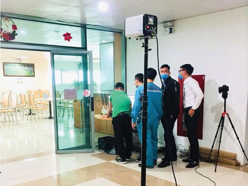 kiểm tra hoạt động camera thân nhiệt đếm người