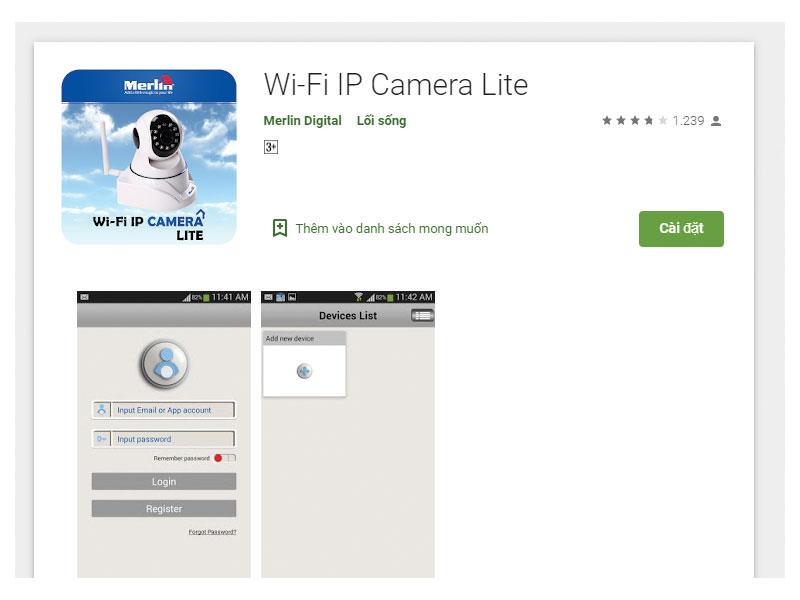 Ứng dụng tải App Điện Thoại Camera Wifi