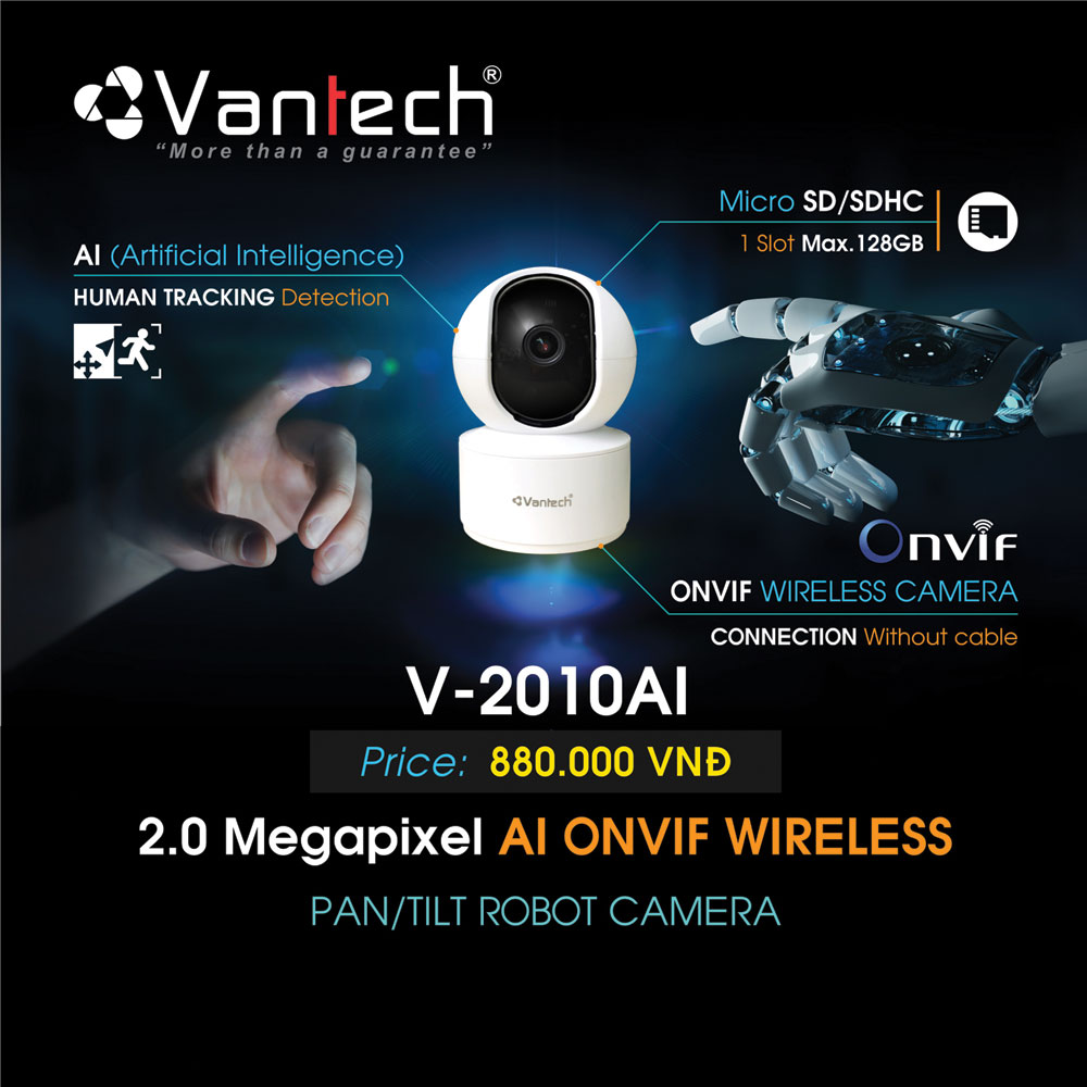 Camera Wifi AI Thông Minh Vantech V-2010AI