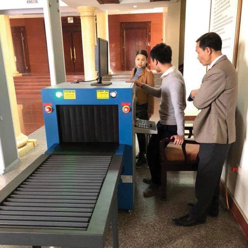 lắp đặt thực tế hệ thống soi hành lý