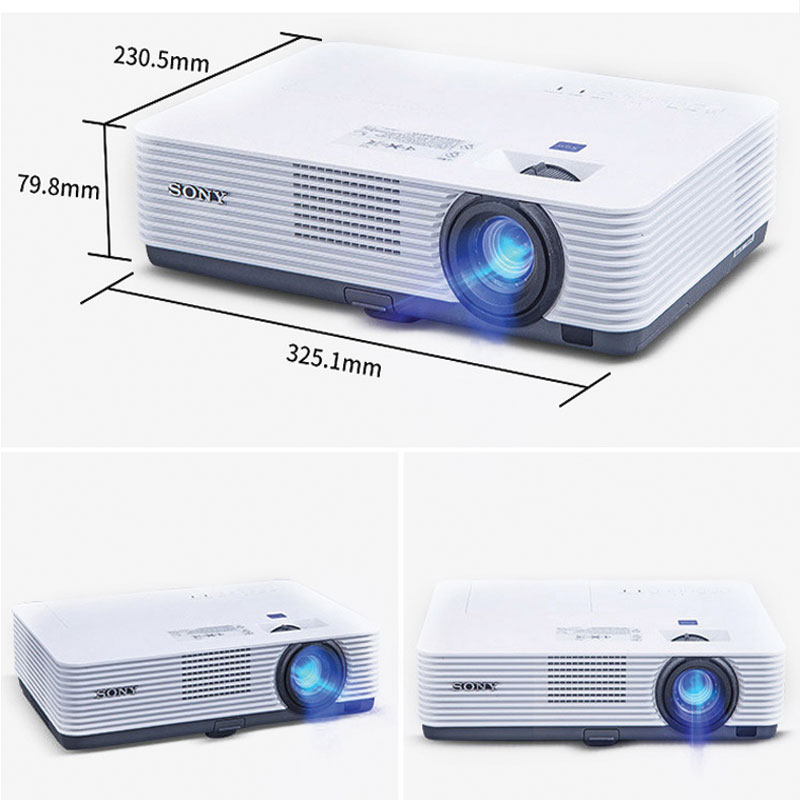 kích thước máy chiếu thực tế