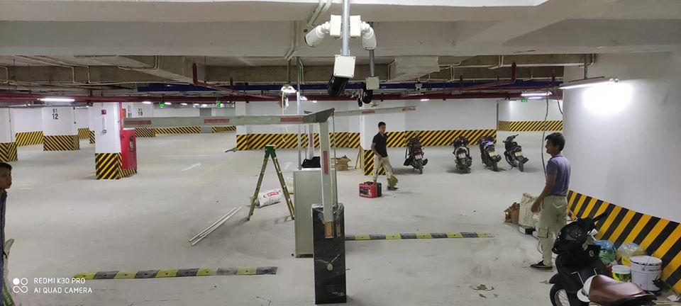 công trình thực tế lắp giữ bãi xe