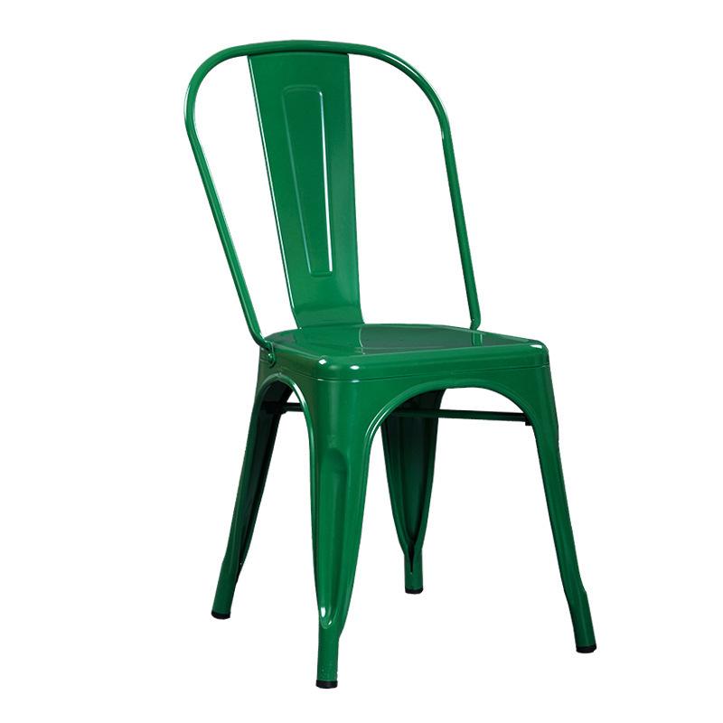 Ghế sắt Tolix giá rẻ sơn màu xanh lá