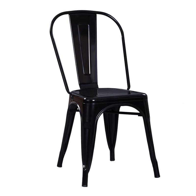 Ghế sắt Tolix giá rẻ sơn màu đen