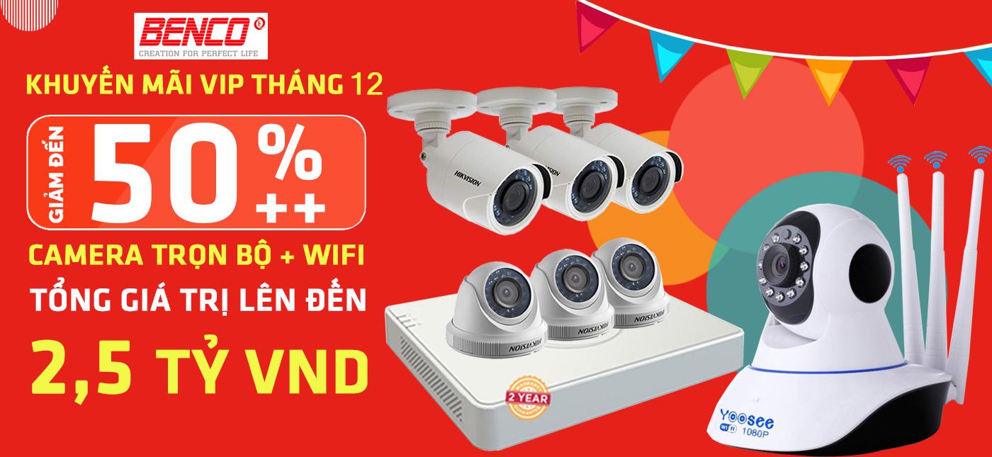 Khuyến mại camera wifi camera trọn bộ hikvision